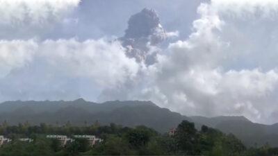 En erupción el principal volcán de San Vicente