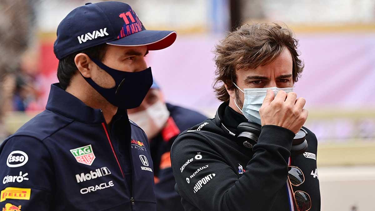 Checo Pérez se acercó al podio y terminó cuarto en el GP de Mónaco