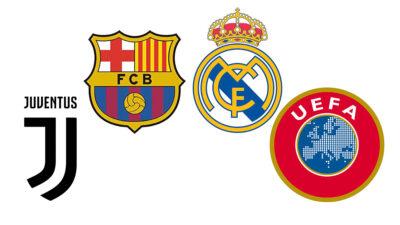 """Barça, Real Madrid y Juventus desafían a la UEFA y denuncian """"coacciones"""""""