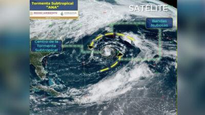 Primera tormenta tropical en el Atlántico se llama Ana