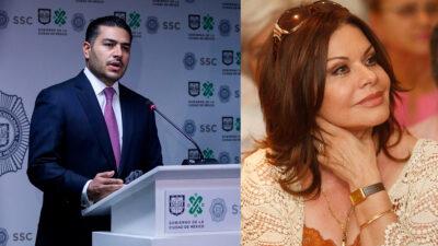 Omar García Harfuch felicita a María Sorté, su mamá