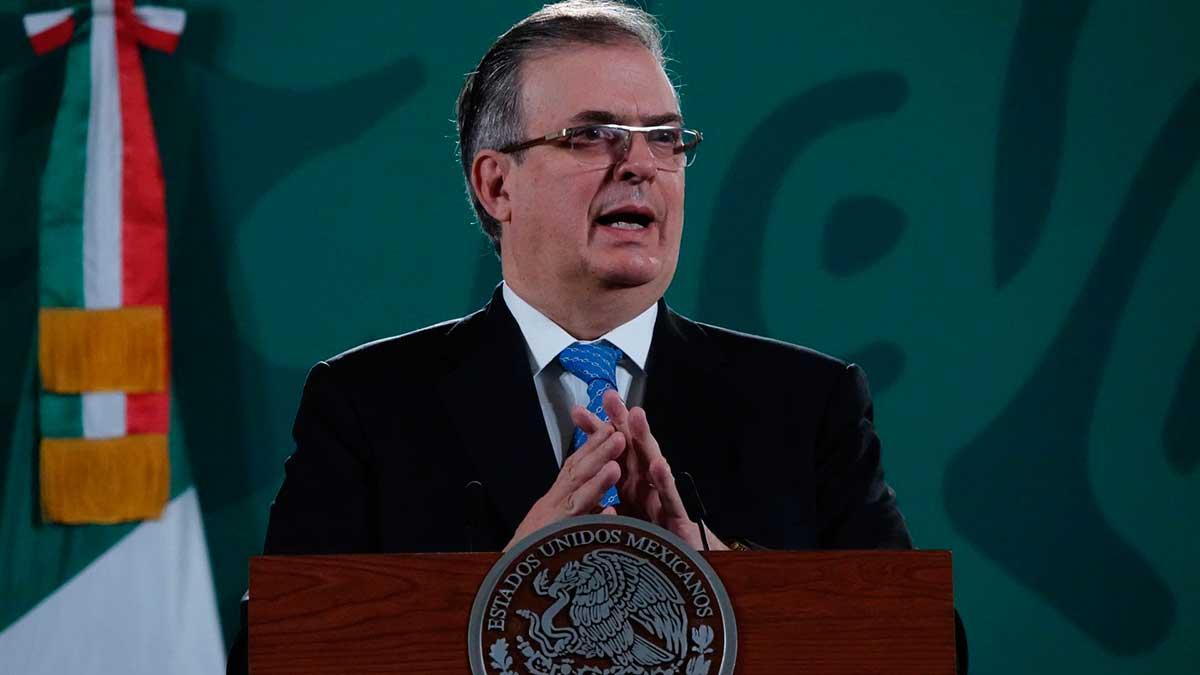 Marcelo Ebrard, titular de la Secretaría de Relaciones Exteriores (SRE).
