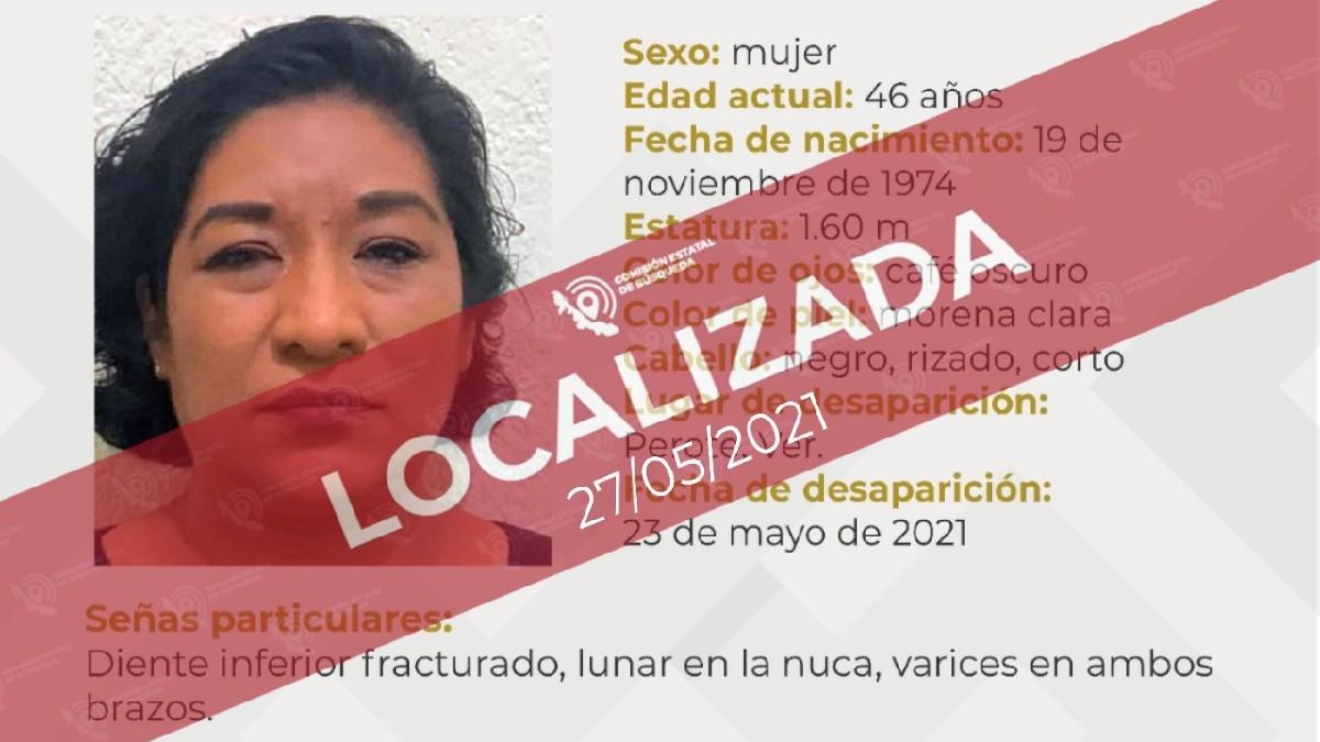 Hallan viva a Angelina Zavaleta Córdoba, regidora de Perote, Veracruz