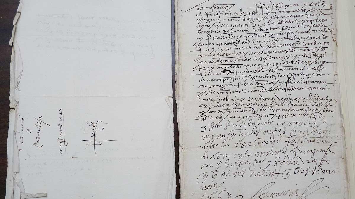 Los papeles de Hernán Cortés rara vez llegan al mercado. Foto: Reuters
