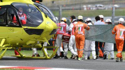 """Jason Dupasquier en """"estado grave"""" tras accidente en Moto3"""