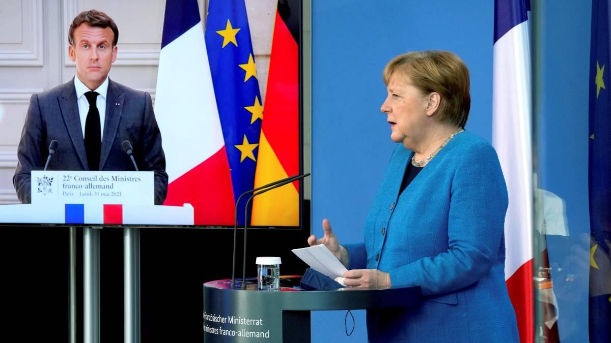 Macron Merkel Estados Unidos