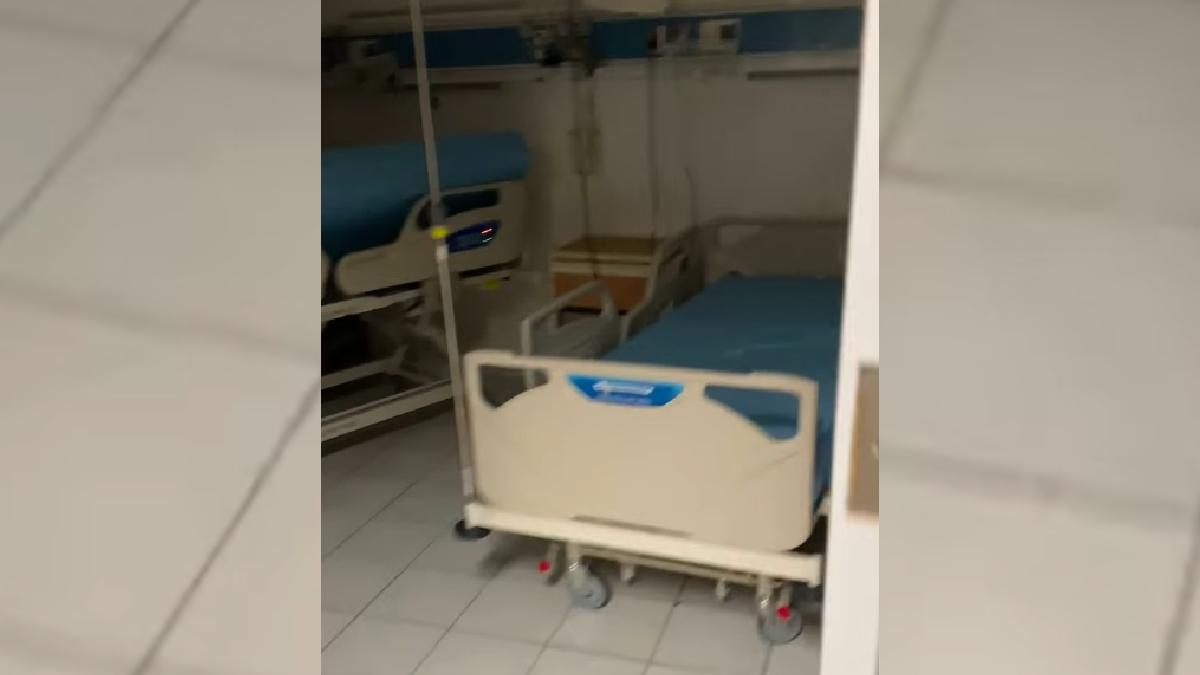 Nuevo León: Enfermero presume área COVID sin pacientes en hospital