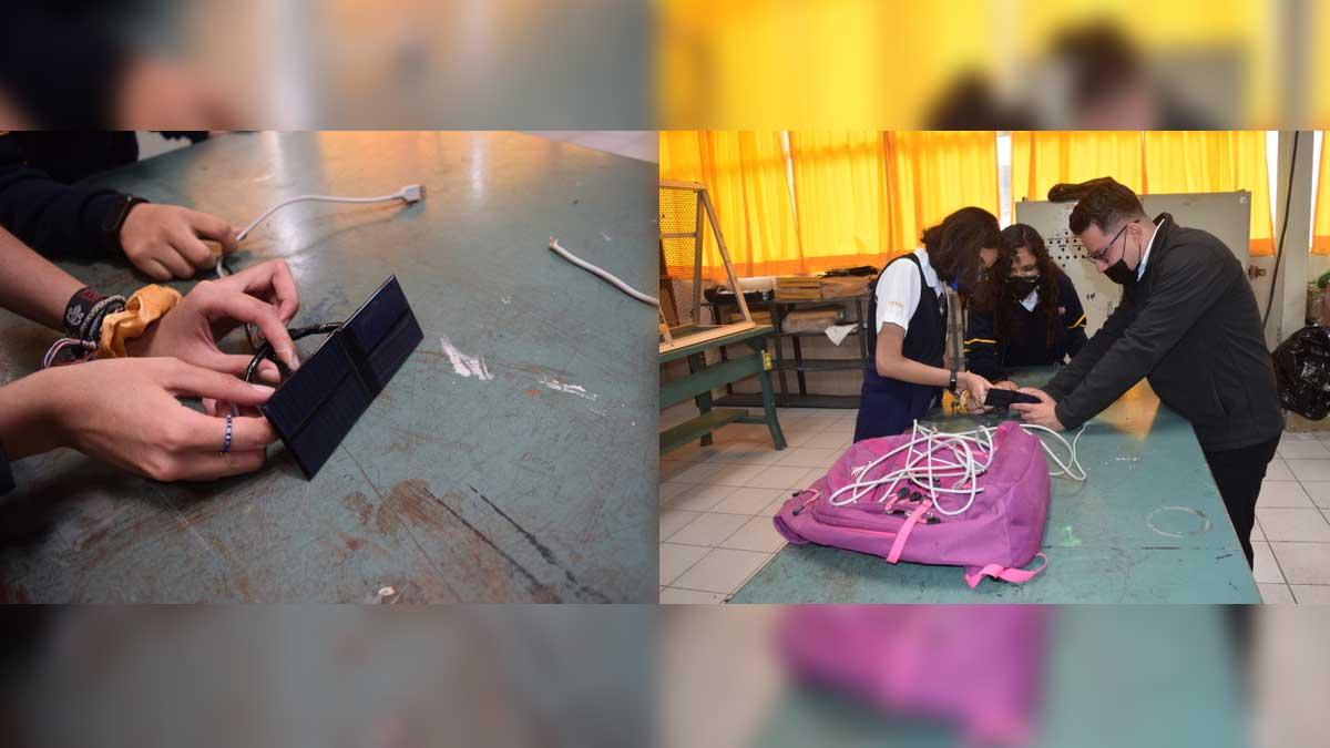 En Coahuila crean Power Backpack; para recargar dispositivos