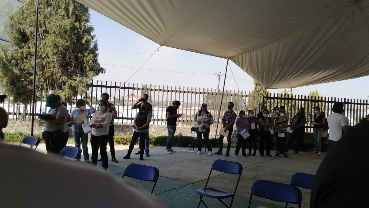 San Martín Texmelucan: empleados del Ayuntamiento se vacunan contra COVID