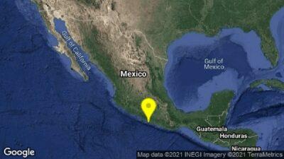 Guerrero registra sismo de 4.8 con epicentro en Coyuca de Benítez