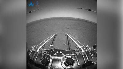 China en Marte: el rover Zhurong devuelve las primeras imágenes
