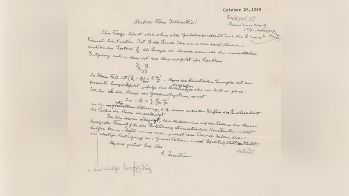 subastan carta de Einstein