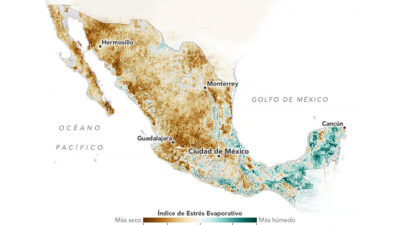 NASA advierte de sequía en México; así se ve desde el espacio