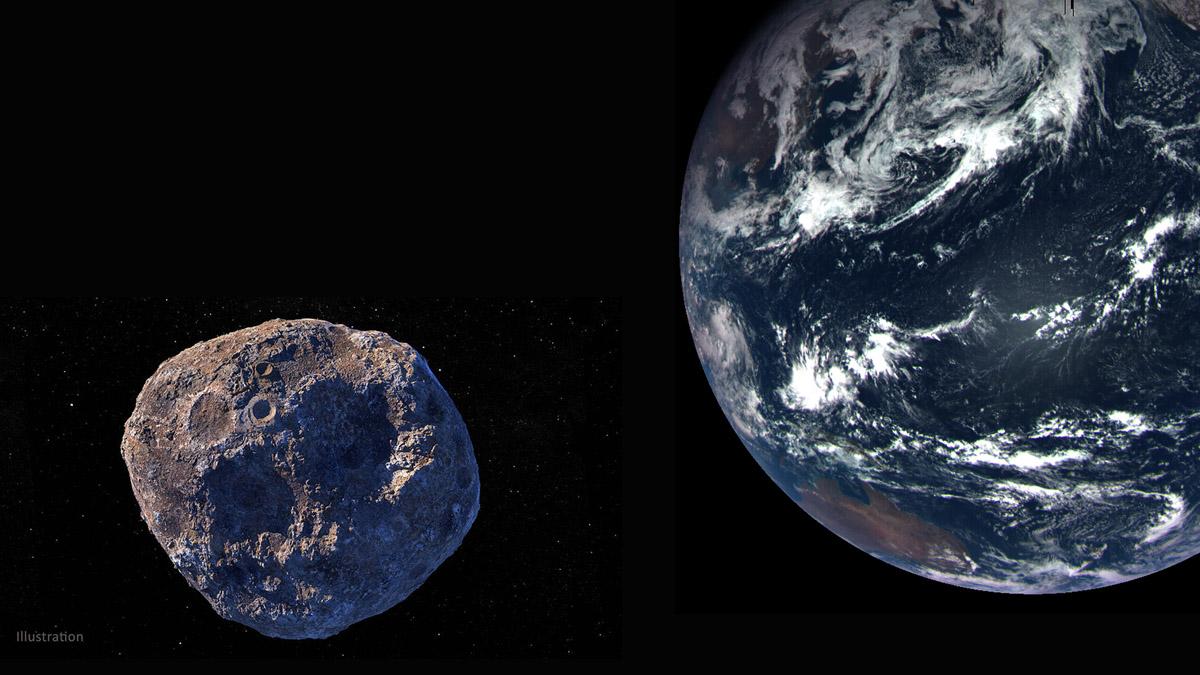 asteroide hipotético