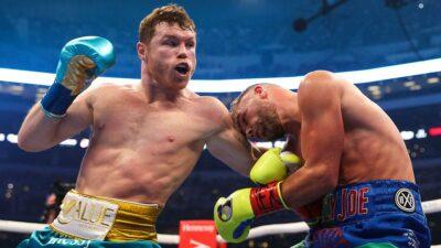 Canelo Álvarez con 'TKO' vence a Saunders y le quita el invicto.