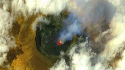 Los ríos de lava del volcán han cesado, pero el magma se expande bajo tierra. Foto: AFP
