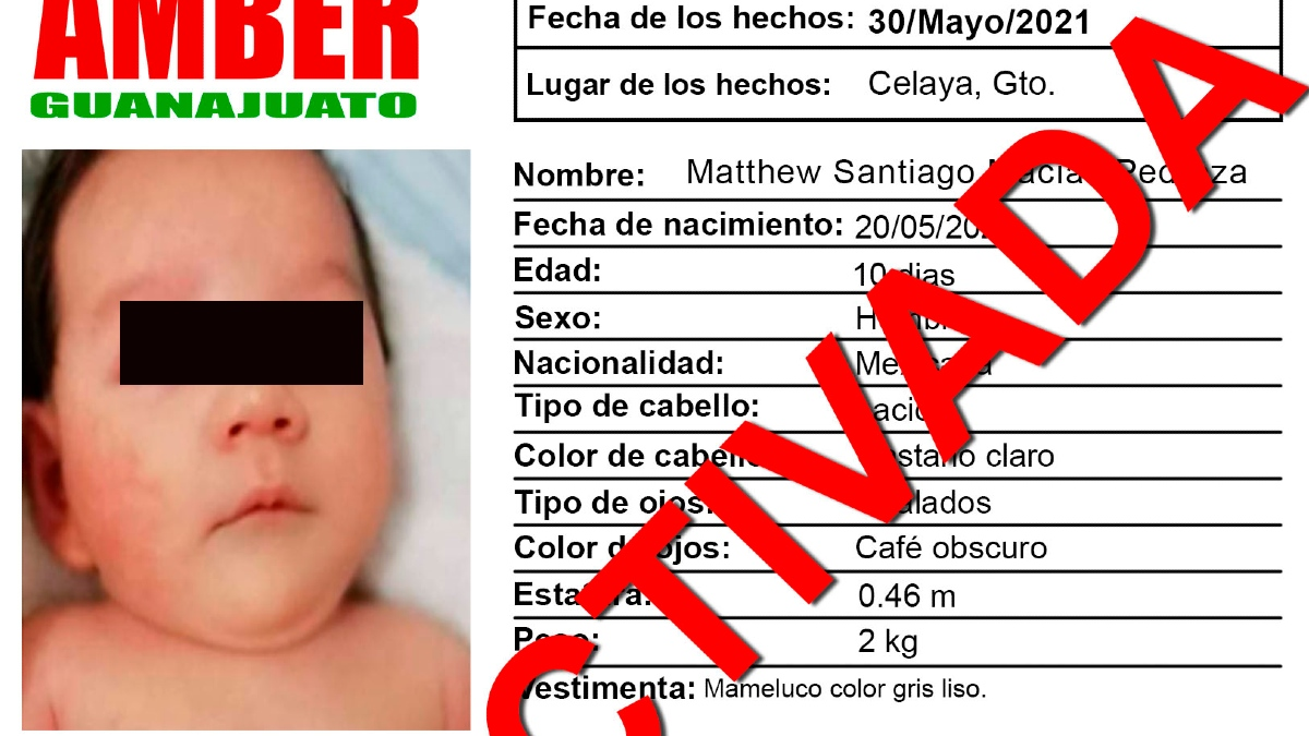 Bebé Matthew, robado a punta de pistola, nunca existió, señala FGE
