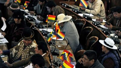 Diputados bolivianos se agarran a puñetazos en plena Asamblea