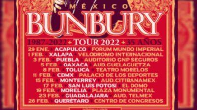 Bunbury Tour Mexico