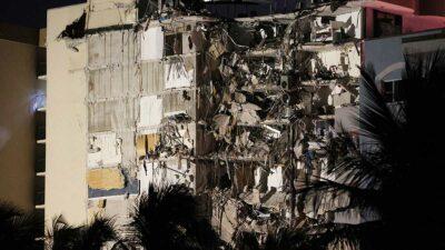 Los registros mostraban que el edificio derrumbado fue construido en 1981. Foto: AFP