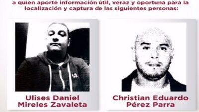 Edomex: ofrecen recompensa de 300 mil pesos para capturar a 2 delincuentes