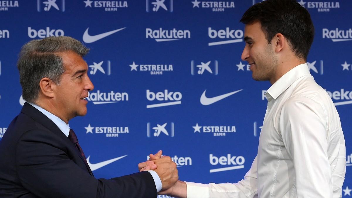 El Barcelona anunció este martes el fichaje del joven defensa internacional Eric García procedente del Manchester City.