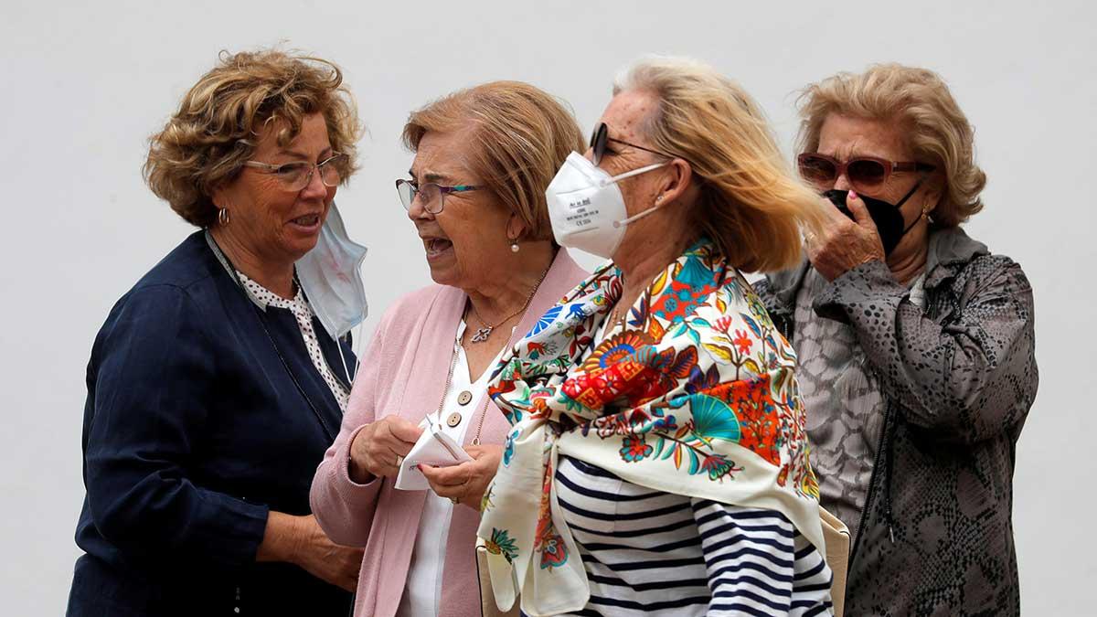 El uso del tapabocas en el exterior se impuso en España en mayo de 2020. Foto: AFP