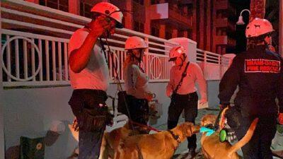 Edificio Miami, Florida: bomberos recatan de los escombros a joven