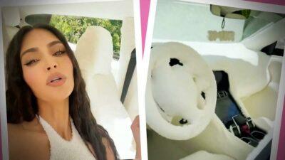 Kin Kardashian coche familia peluche