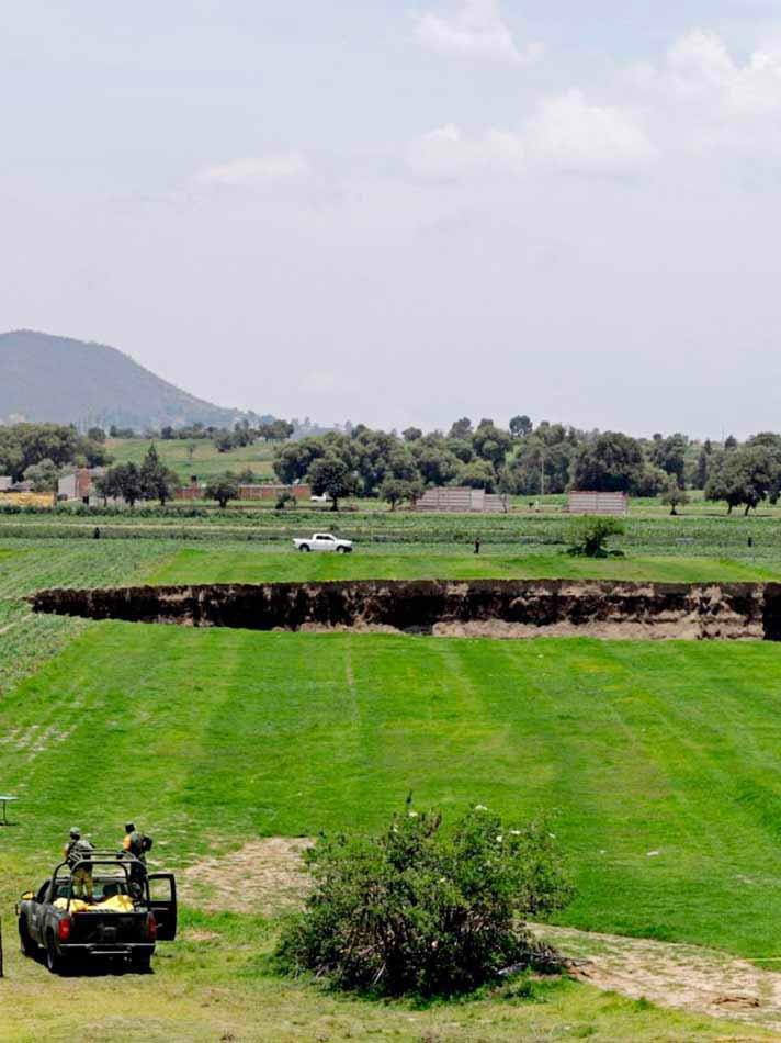 Socavón de Puebla no es el único, ve otros de México