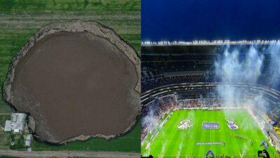 Socavón en Puebla ya mide más que cancha del Estadio Azteca