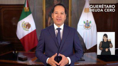 Querétaro, en deuda cero, anuncia Francisco Domínguez