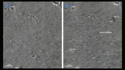 China publica imágenes en alta resolución sobre su aterrizaje en Marte