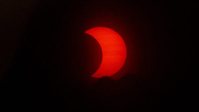 Eclipse sol de anillo de fuego