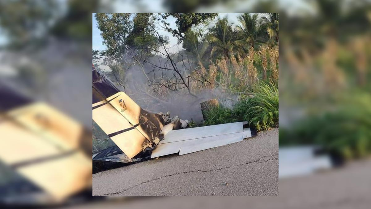 Tabasco: cae avioneta interceptada por la Marina