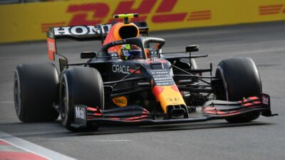 "Sergio ""Checo"" Pérez sube al podio del Gran Premio de Azerbaiyán"
