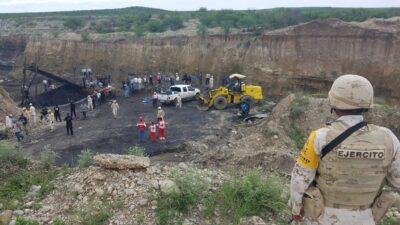 Colapso mina de Múzquiz: rescatan cuerpo de quinto trabajador