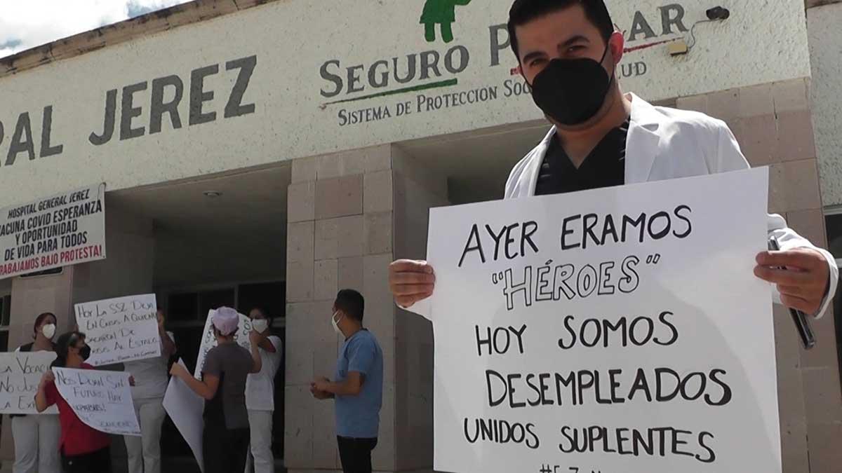 Zacatecas: médicos y enfermeras protestan por despidos sin notificación