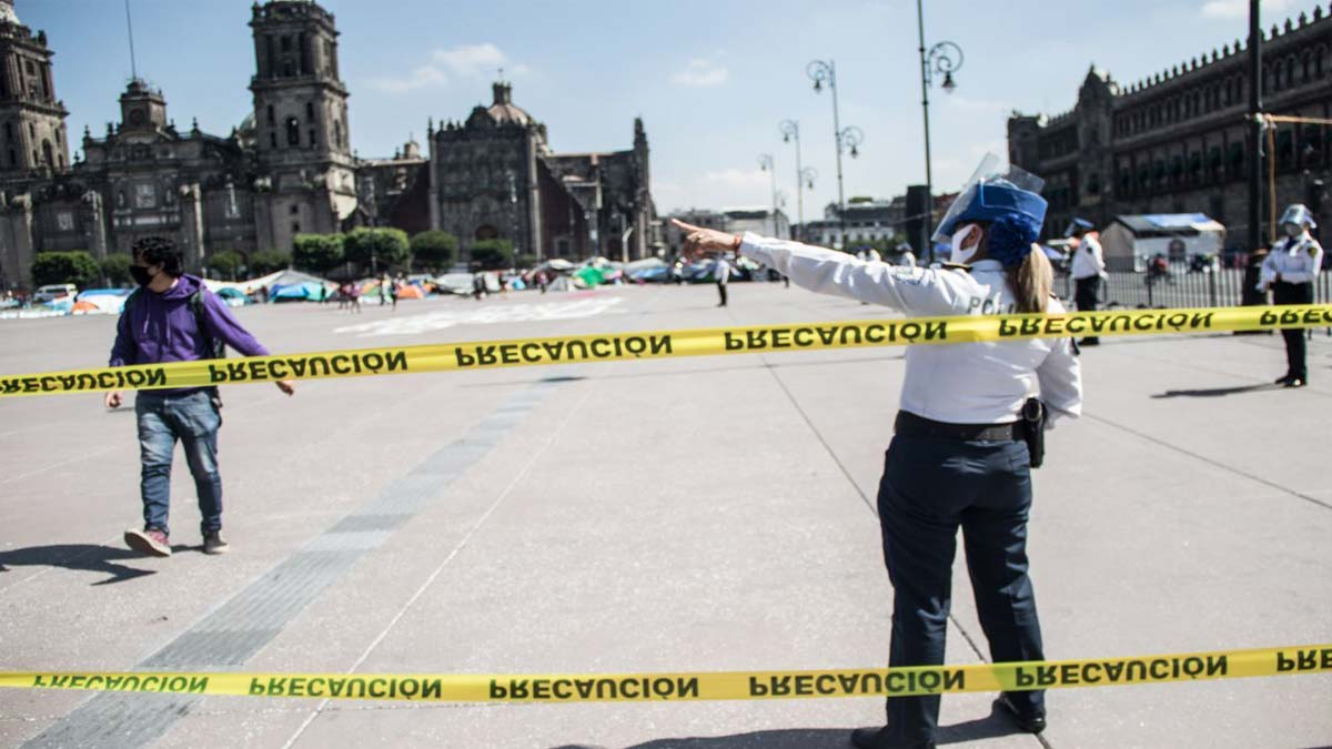 """Zócalo de CDMX es """"blindado"""" por visita de Kamala Harris"""