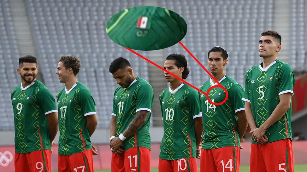 Pusieron al revés la bandera de México en el uniforme