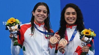 Alejandra Orozco Y Gabriela Agundez En El Podio