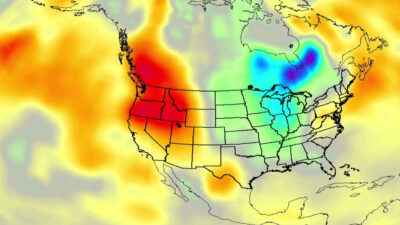 NASA capta sorprendente ola de calor récord en el Pacífico