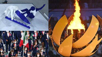 Tokio 2020: los mejores momentos de la inauguración olímpica