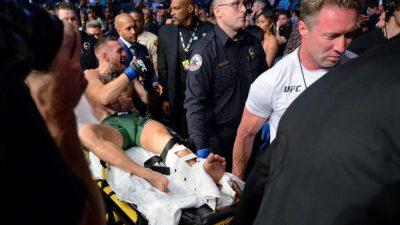 Conor McGregor sufre escalofriante fractura en la UFC 264