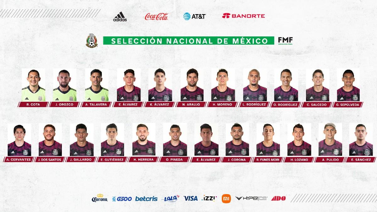 Funes Mori y los convocados por México para la Copa Oro