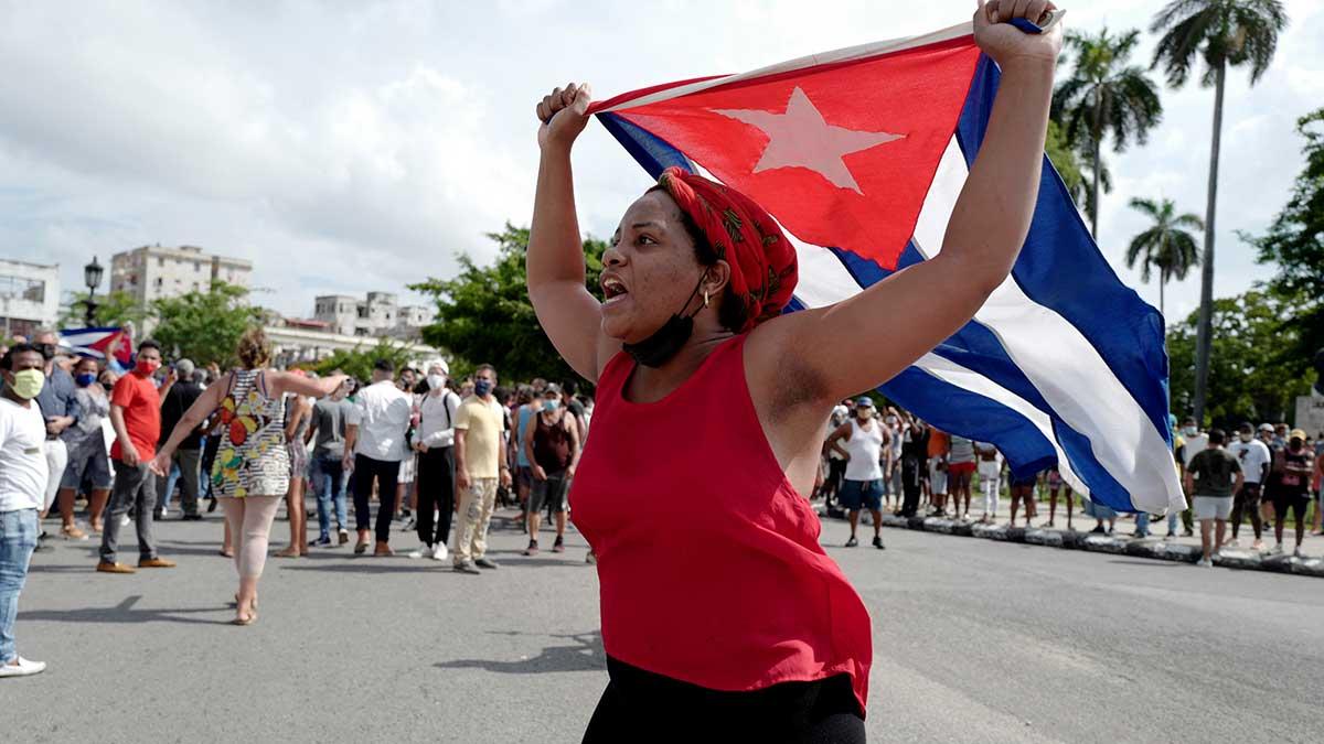 San Antonio de los Baños es un pequeño pueblo en Cuba que tiene unos 50 mil habitantes. Foto: AFP