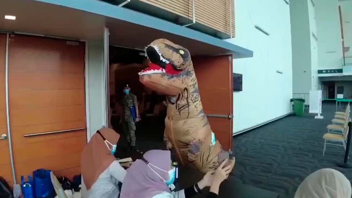 dinosaurio se vacuna