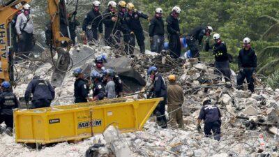 """Tras colapso en edificio de Miami, posibilidades de hallar sobrevivientes es """"casi cero"""""""