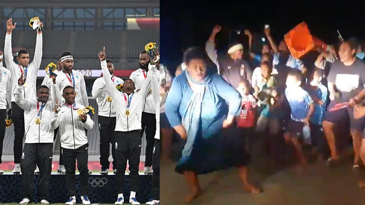 Fiji celebra medalla de oro en Tokio 2020