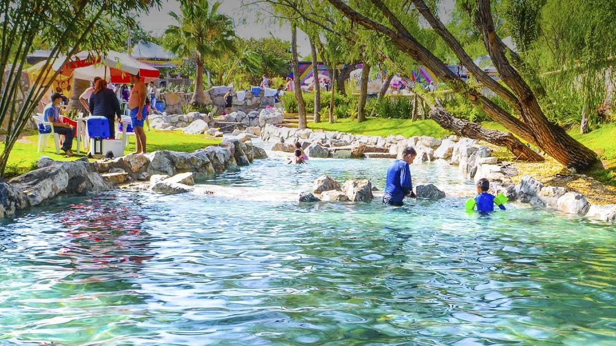 Hidalgo: aguas termales en el parque acuático Maguey Blanco